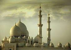 мечеть Abu Dhabi грандиозная Стоковая Фотография RF