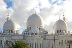 мечеть Abu Dhabi грандиозная Стоковые Изображения