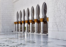 мечеть Abu Dhabi грандиозная Стоковое Изображение