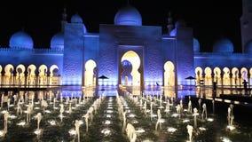мечеть Abu Dhabi грандиозная акции видеоматериалы