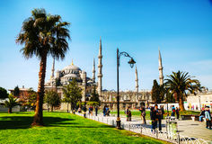 Мечеть Ahmed султана (голубая мечеть) в Стамбуле Стоковые Изображения