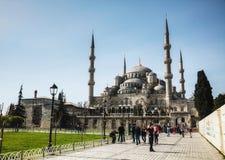 Мечеть Ahmed султана (голубая мечеть) в Стамбуле Стоковые Изображения RF