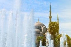 Мечеть Ahmed султана, голубая мечеть, Стамбул Стоковые Фотографии RF