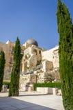 Мечеть al-Aqsa, археологический центр Davidson парка в Иерусалиме, Израиле Стоковые Фото