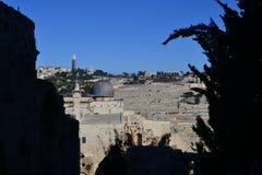 Мечеть al-Aqsa в Иерусалиме на верхней части Temple Mount на солнечный день, Израиля стоковое изображение rf