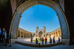 Мечеть al-Mulk Nasir в аркаде Шираза Стоковое Изображение