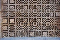 Мечеть Bibi Khanum деревянного парадного входа решетки портальная Стоковая Фотография RF
