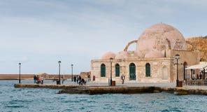 Мечеть Chania Крит Yiali Tzami турецкая стоковое изображение rf