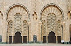 мечеть hassan ii дверей Стоковое Фото