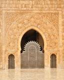 мечеть hassan ii детали casablanca Стоковая Фотография