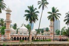 Мечеть Jamek в Куалае-Лумпур Стоковые Изображения