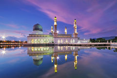 Мечеть Kota Kinabalu плавая Стоковые Изображения