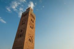 Мечеть Koutoubia в Marrakech стоковое фото