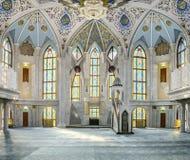Мечеть Kul Sharif Комната молитве kazan kremlin стоковая фотография