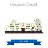 Мечеть Larabanga в Гане иллюстрация вектора