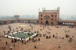 Мечеть Masjid-i Jahan-Numa, старое Дели, Уттар-Прадеш, Индия Стоковые Изображения