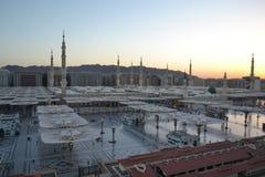 Мечеть Nabawi в Medina на утре стоковые изображения rf