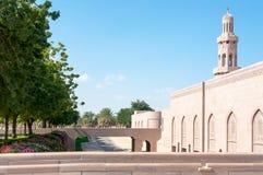 Мечеть Qaboos султана грандиозная, Muscat, Оман Стоковые Изображения
