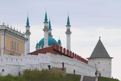 Мечеть Qol Sharif, анонимная круглая башня kazan Россия Стоковое Изображение RF