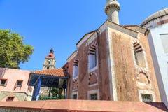 Мечеть ` s Suleiman в городке Родоса старом, Dodecanese стоковые изображения