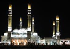 Мечеть Saleh в ноче стоковые изображения