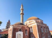 Мечеть Suleman в крепости Родоса, Греции стоковая фотография rf
