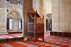 Мечеть Suleymaniye в Стамбуле Турции - интерьере Стоковое Изображение