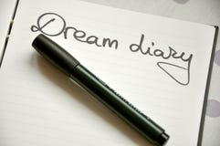 Мечтает принципиальная схема дневника Стоковые Фотографии RF