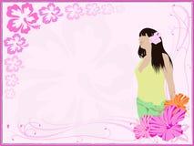 мечтает hibiscus иллюстрация штока