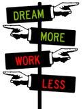 Мечтайте больше Стоковые Изображения