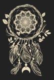 Мечтайте улавливатель Иллюстрация вектора нарисованная рукой на черной предпосылке Иллюстрация вектора