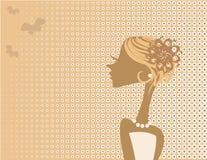 Мечтательная девушка вектора Стоковое Изображение