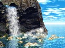 мечтательное waterfall1 Стоковая Фотография