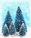 Мечтательные рождественские елки Стоковые Изображения
