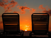 мечтательный заход солнца Стоковая Фотография RF