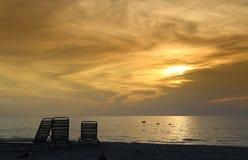 мечтательный заход солнца Стоковые Фото