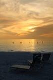 мечтательный заход солнца Стоковое фото RF