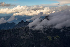 Мечтательная антенна ландшафта горы Стоковая Фотография RF
