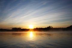 мечтательный заход солнца Стоковое Изображение