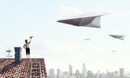 Мечтать, который нужно быть пилотом Мультимедиа Стоковые Изображения RF