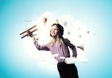 Мечтать, который нужно быть пилотом Мультимедиа Стоковое Фото