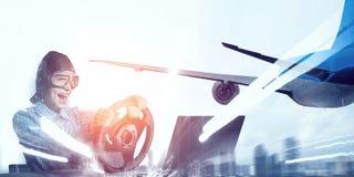 Мечтать, который нужно стать пилотом Мультимедиа Стоковое Изображение RF