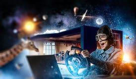 Мечтать, который нужно стать пилотом Мультимедиа Стоковое Фото