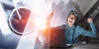 Мечтать, который нужно стать пилотом Мультимедиа Стоковая Фотография RF