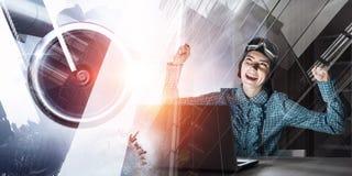 Мечтать, который нужно стать пилотом Мультимедиа Стоковые Изображения RF