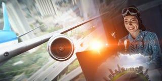 Мечтать, который нужно стать пилотом Мультимедиа Стоковые Фотографии RF