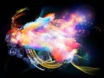 Мечтать межзвёздных облаков дизайна Стоковое Фото