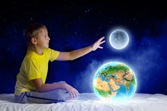 Мечтать ночи иллюстрация штока