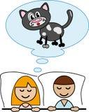 Мечтать о коте. Стоковое фото RF