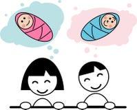Мечтать о младенце Стоковые Изображения RF